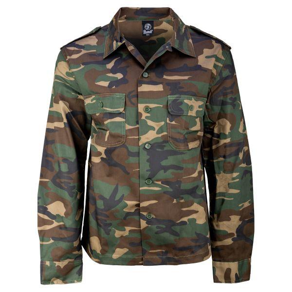 Brandit US Hemd 1/1 Arm woodland