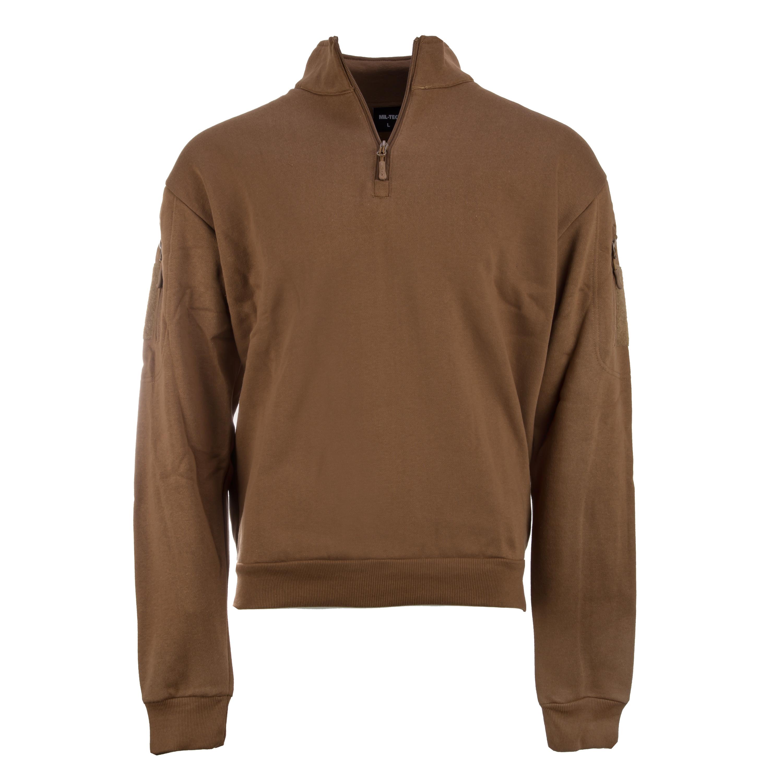 Mil-Tec Tactical Sweatshirt mit Zipper dark coyote