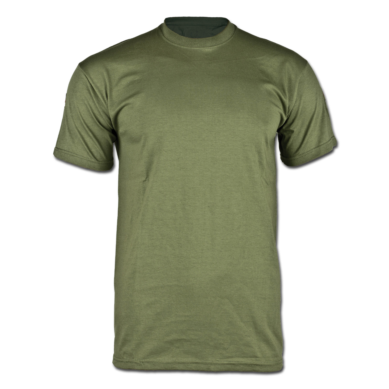 T-Shirt mit Hoheitsabzeichen Frankreich oliv