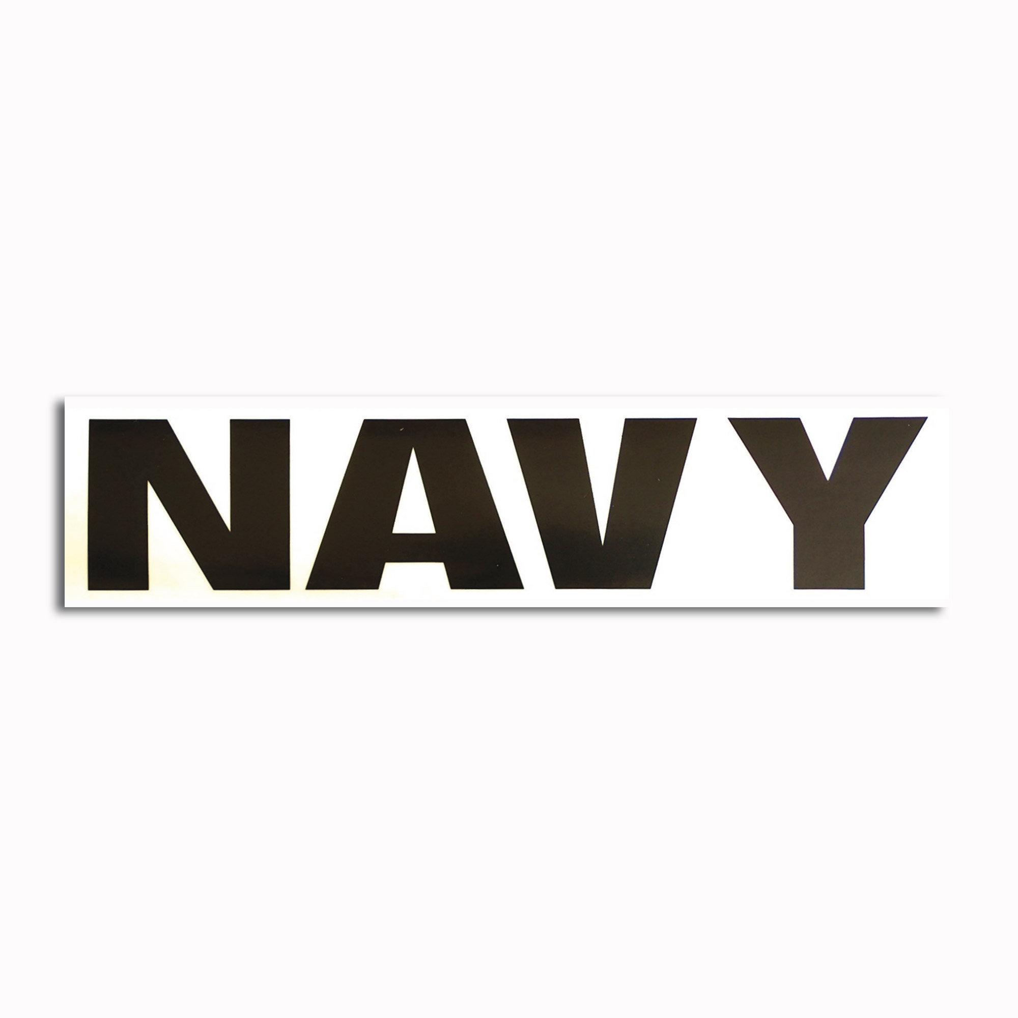 Transparenter Aufkleber Navy