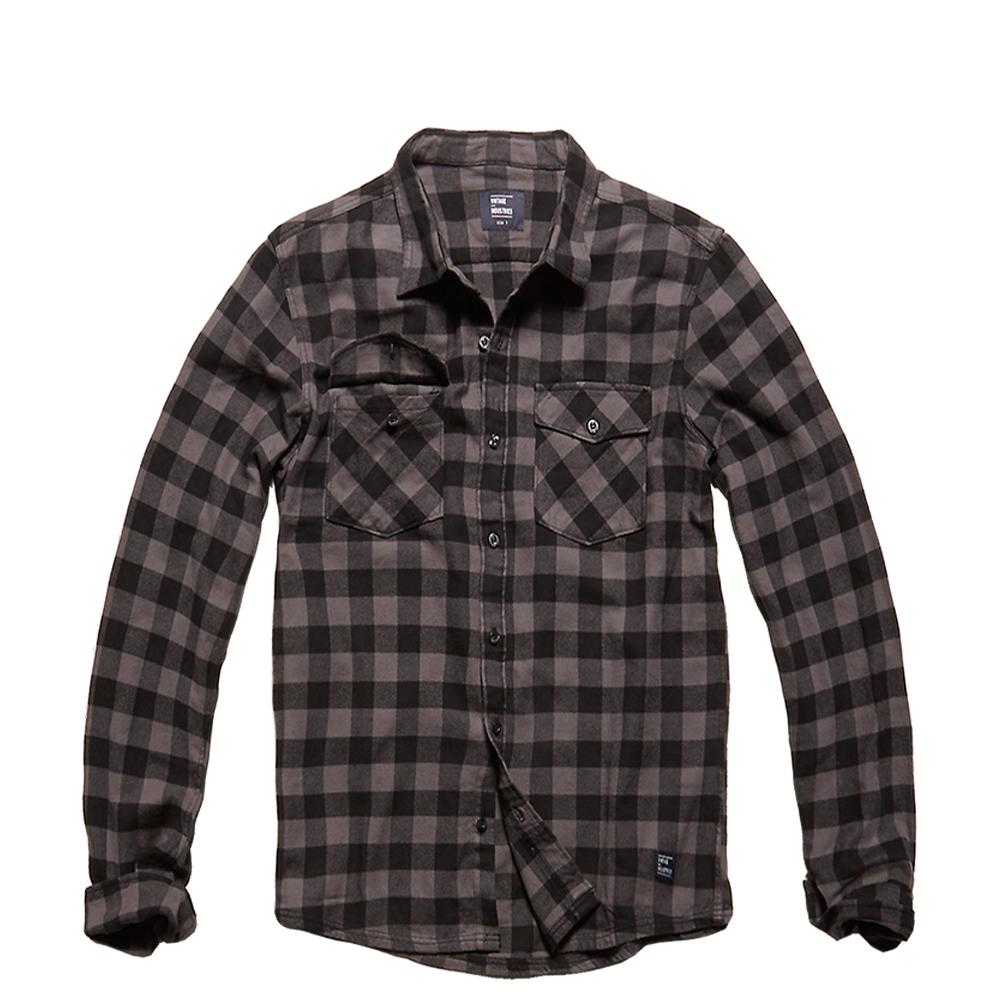 Vintage Industries Hemd Harley Shirt grey check
