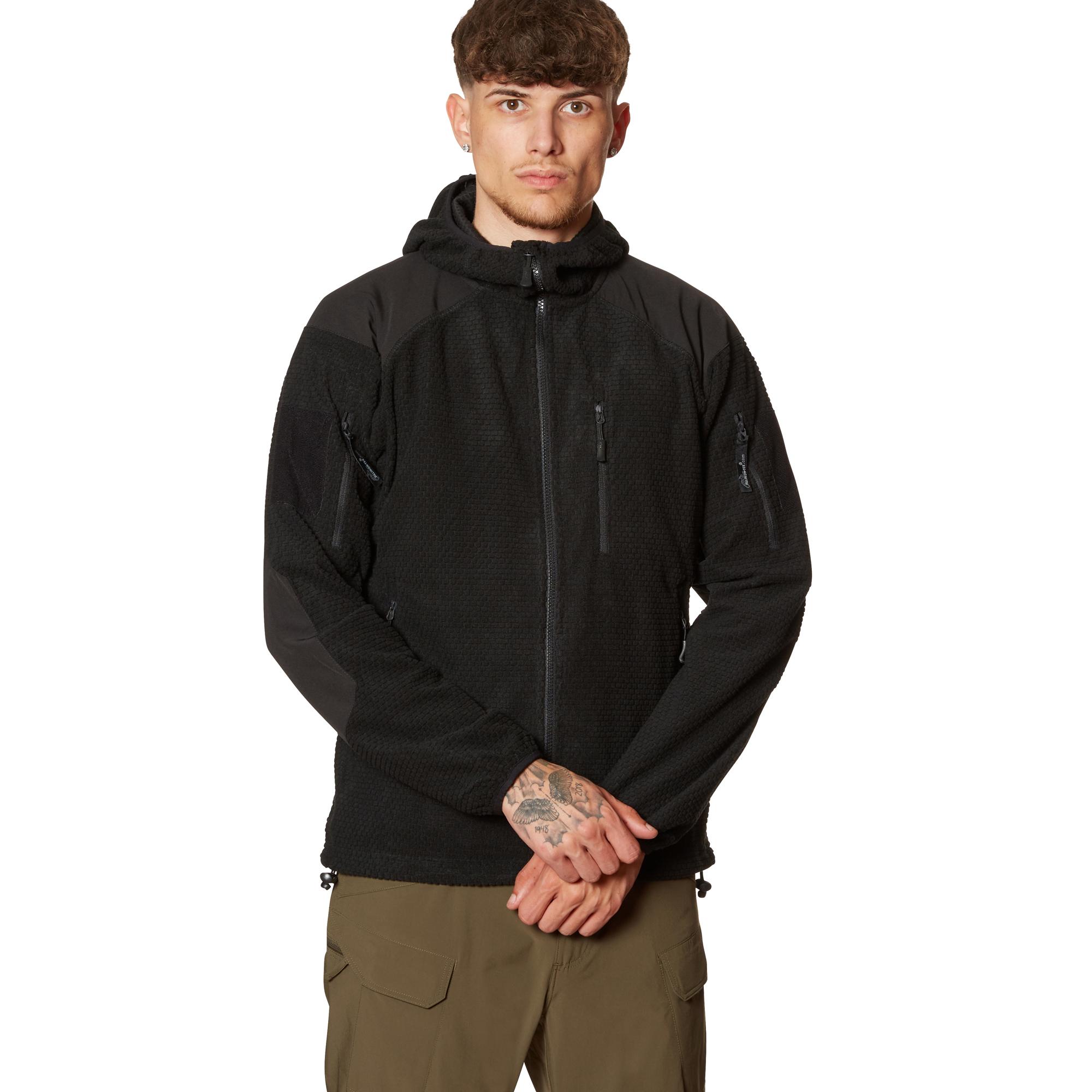 Helikon-Tex Jacke Alpha Hoodie Grid Fleece schwarz