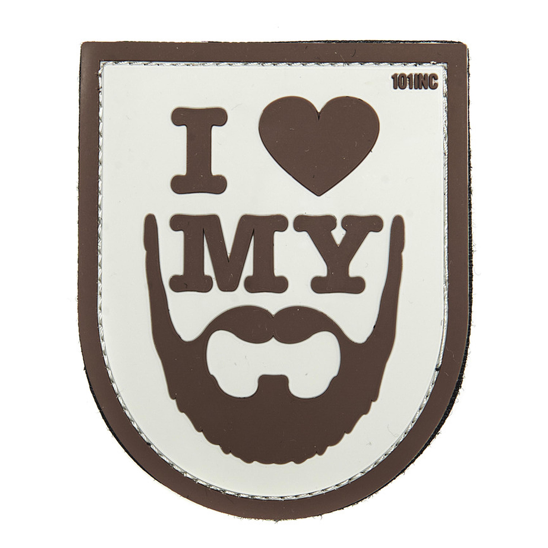 3D Patch I love my Beard braun