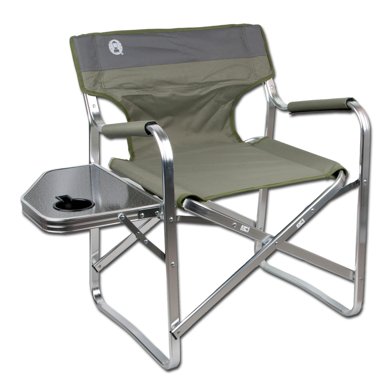 Campingstuhl Coleman Deck Chair mit Klapptisch oliv