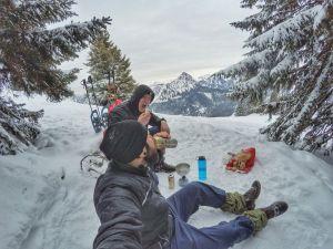 Weißwurstfrühstück in den Bergen