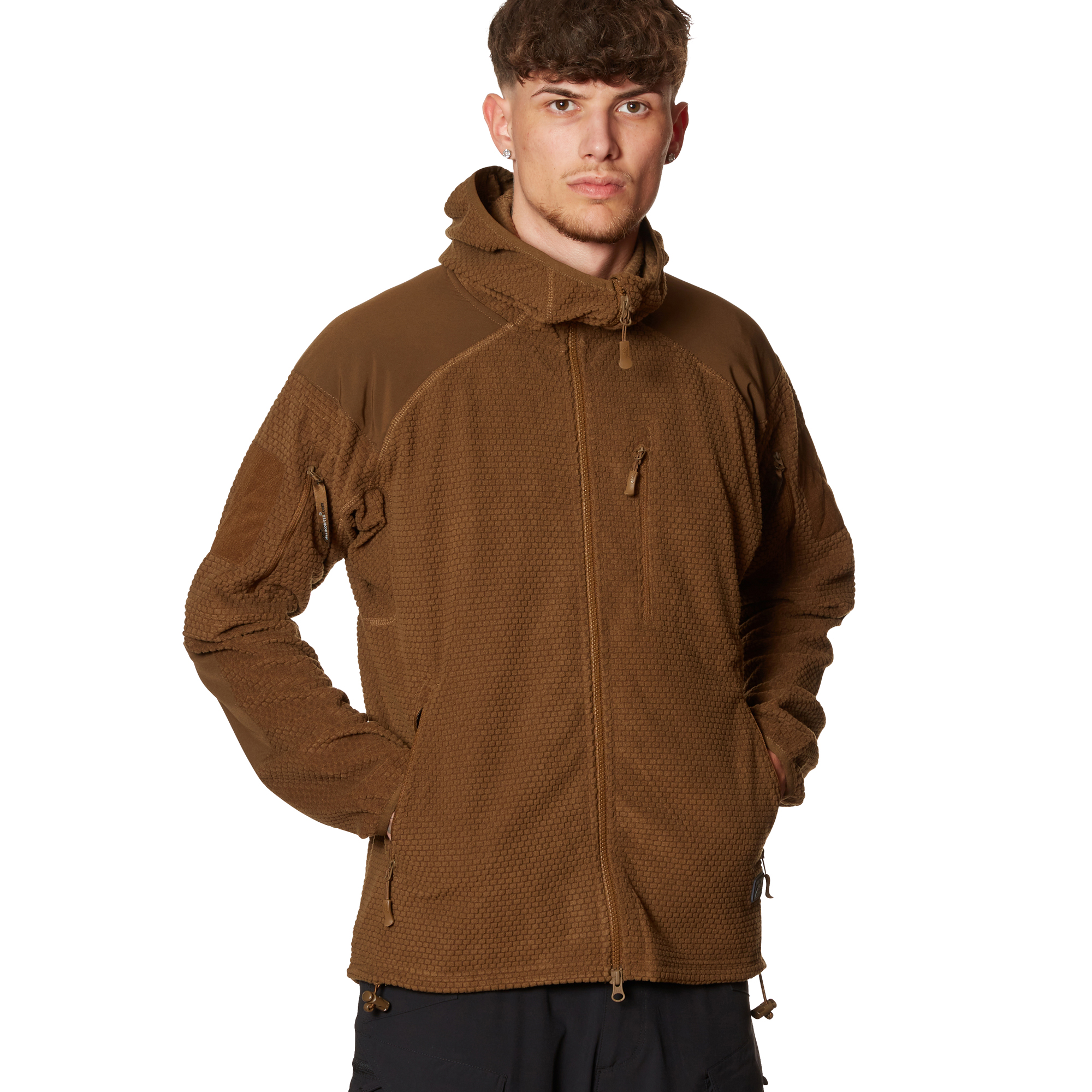 Helikon-Tex Jacke Alpha Hoodie Grid Fleece coyote