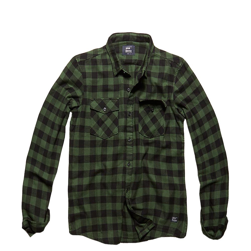 Vintage Industries Hemd Harley Shirt green check