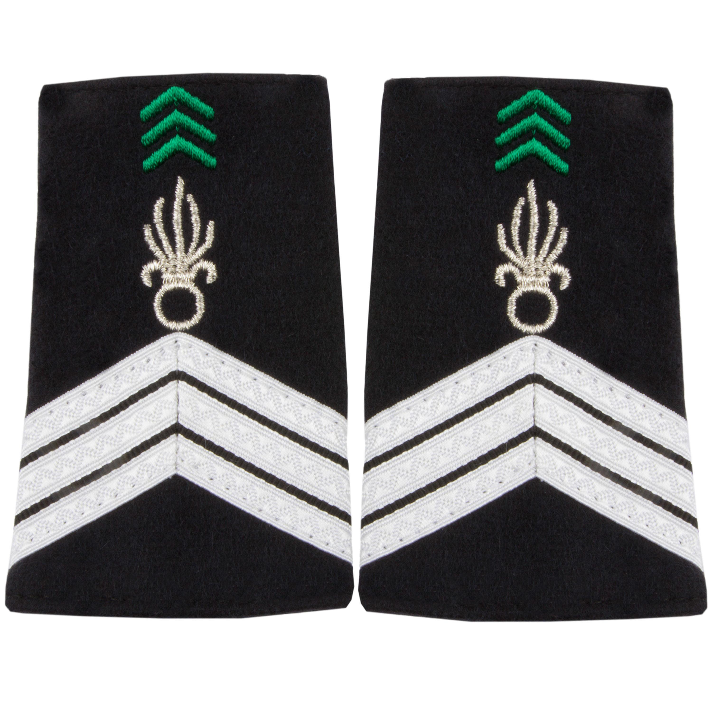 Dienstgradabzeichen Stoff Sergent Chef légion Cavalerie