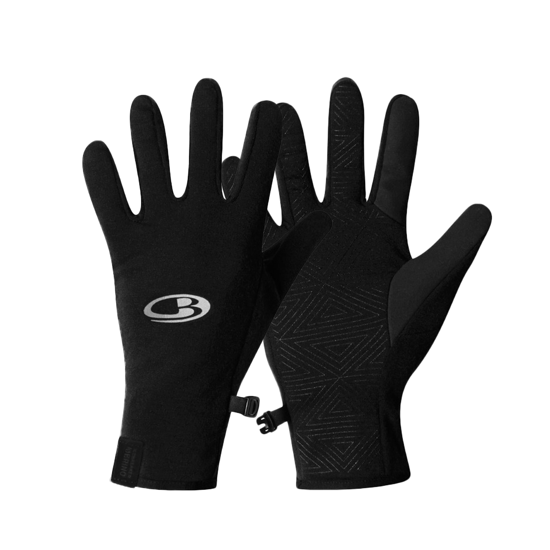 Icebreaker Quantum Gloves Merino schwarz
