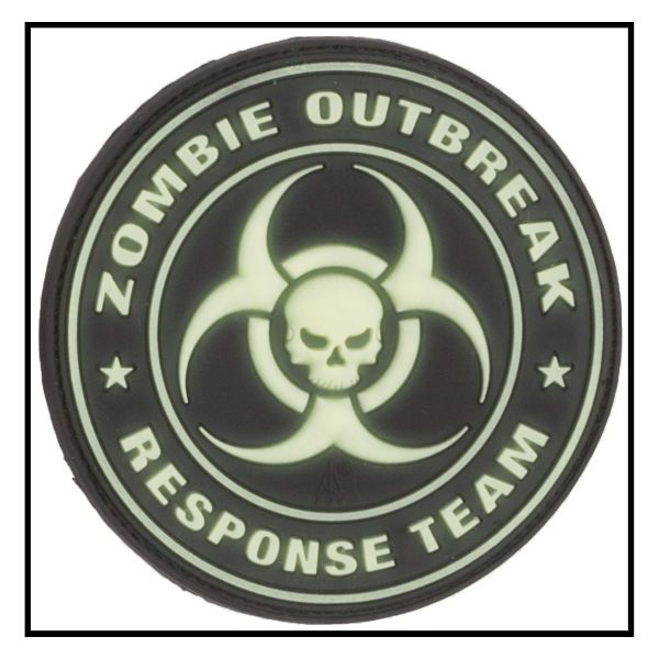 3D-Patch Zombie Outbreak Response Team nachleuchtend