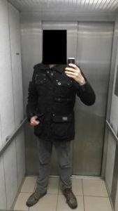 Brandit Jacke Platinum Vintage Baumwolle Kleidung schwarz für Herbst//Frühling