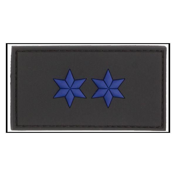 3D-Patch Dienstgradabzeichen Polizeimeister schwarz