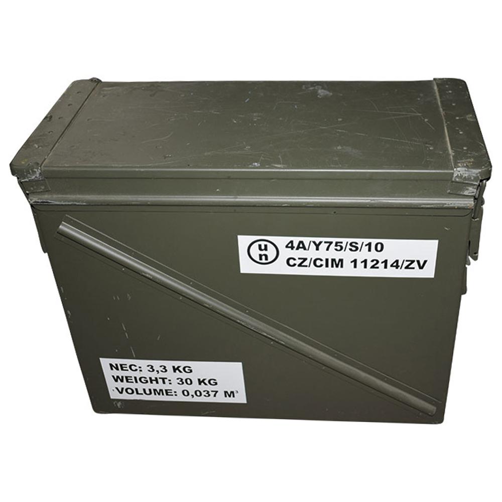 US Munikiste Metall groß 30 mm neuwertig