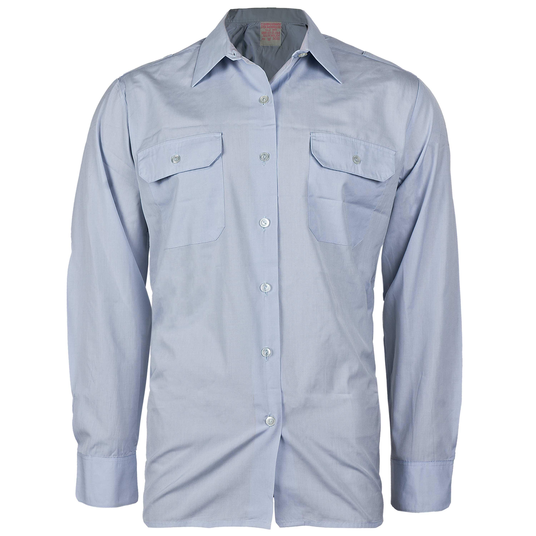 BW Diensthemd Damen Langarm blau gebraucht