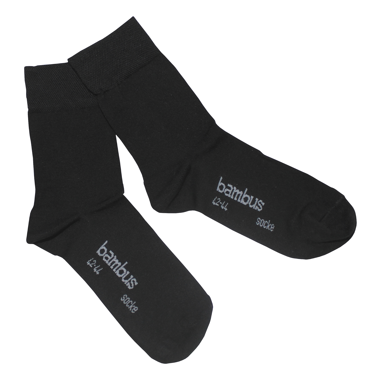 Socken Bambus schwarz 3-er Pack