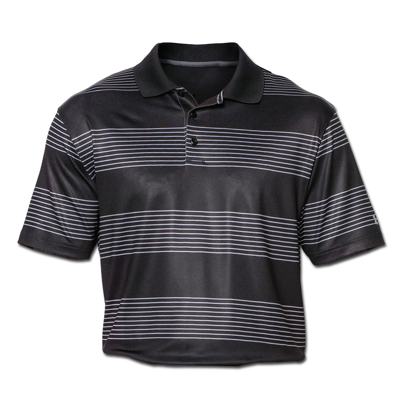 Under Armour Front 9 Stripe Poloshirt schwarz