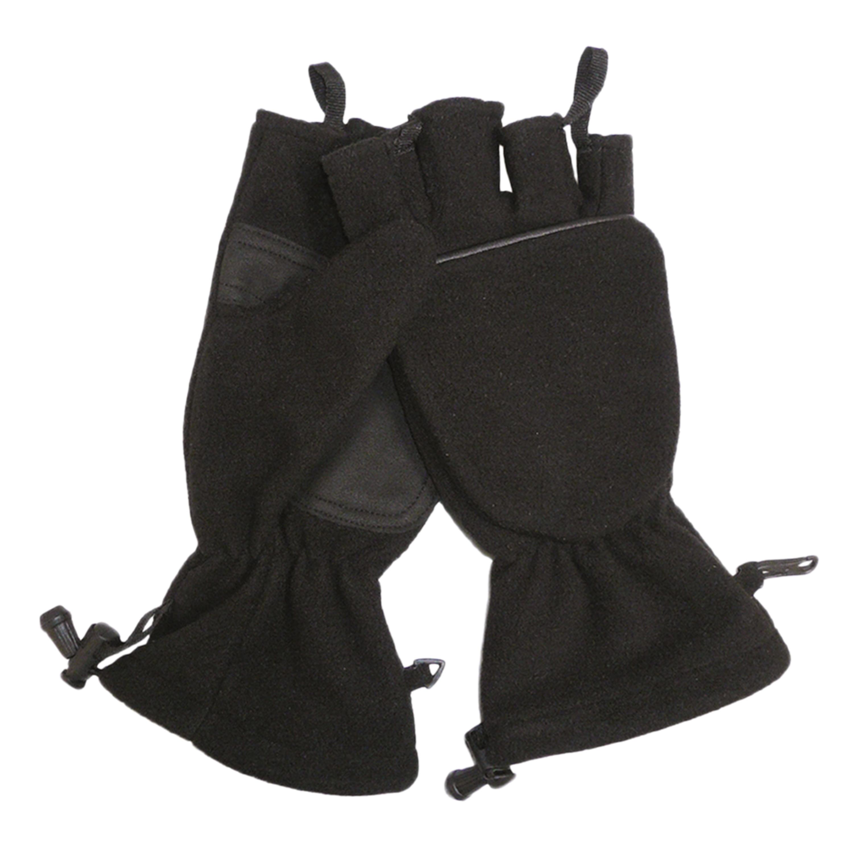 Klapphandschuhe Fleece schwarz