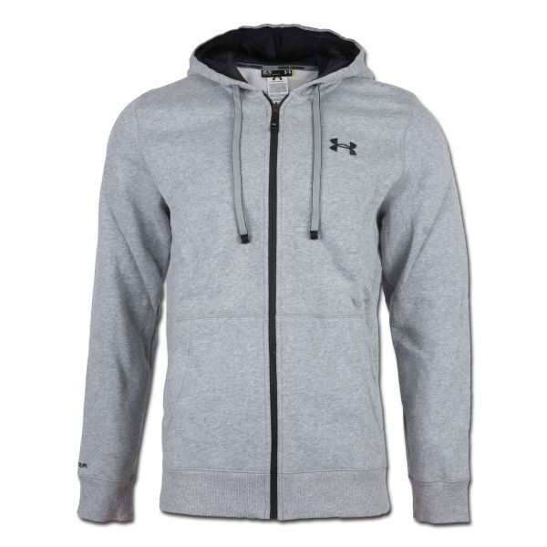Under Armour Charged Cotton Rival Shirt Full Zip grau