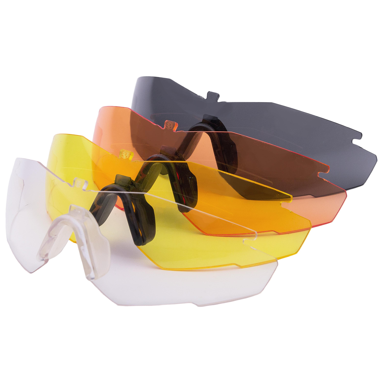 Revision Ersatzglas Stingerhawk schwarzer Nasensteg gelbes Glas