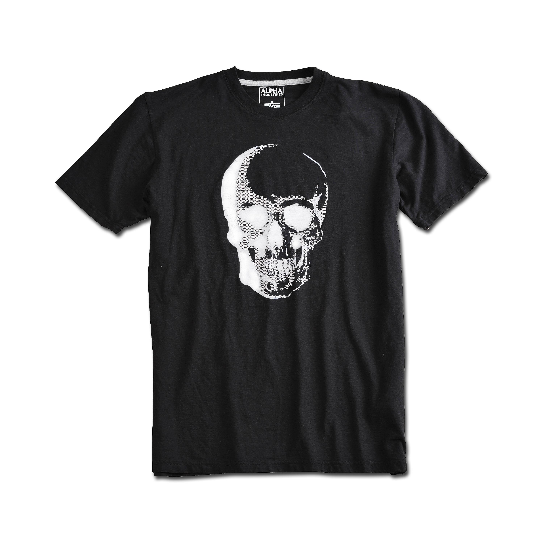 T-Shirt Alpha Industries Cranium schwarz