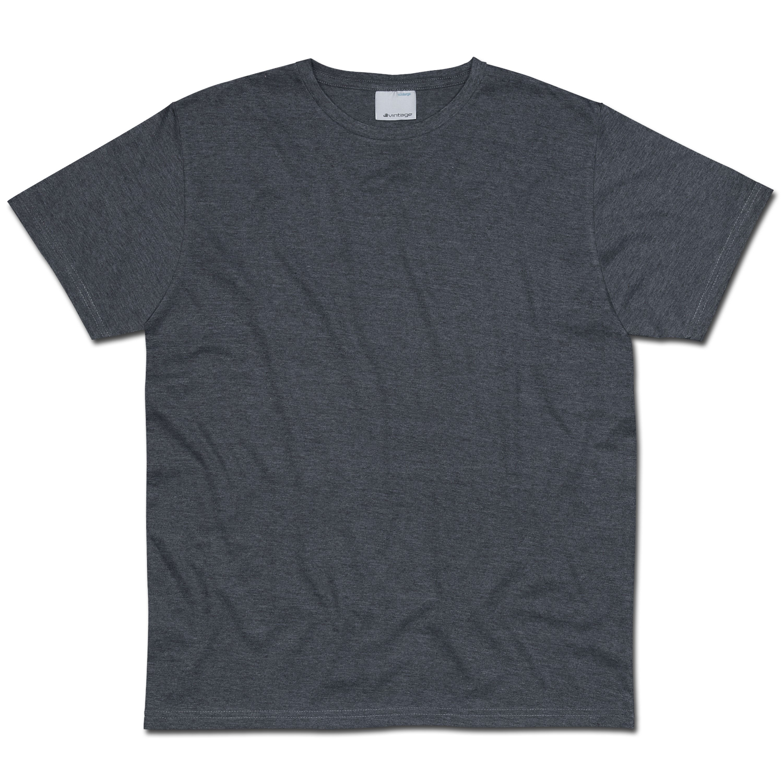 T-Shirt Vintage Industries Marlow dunkelgrau