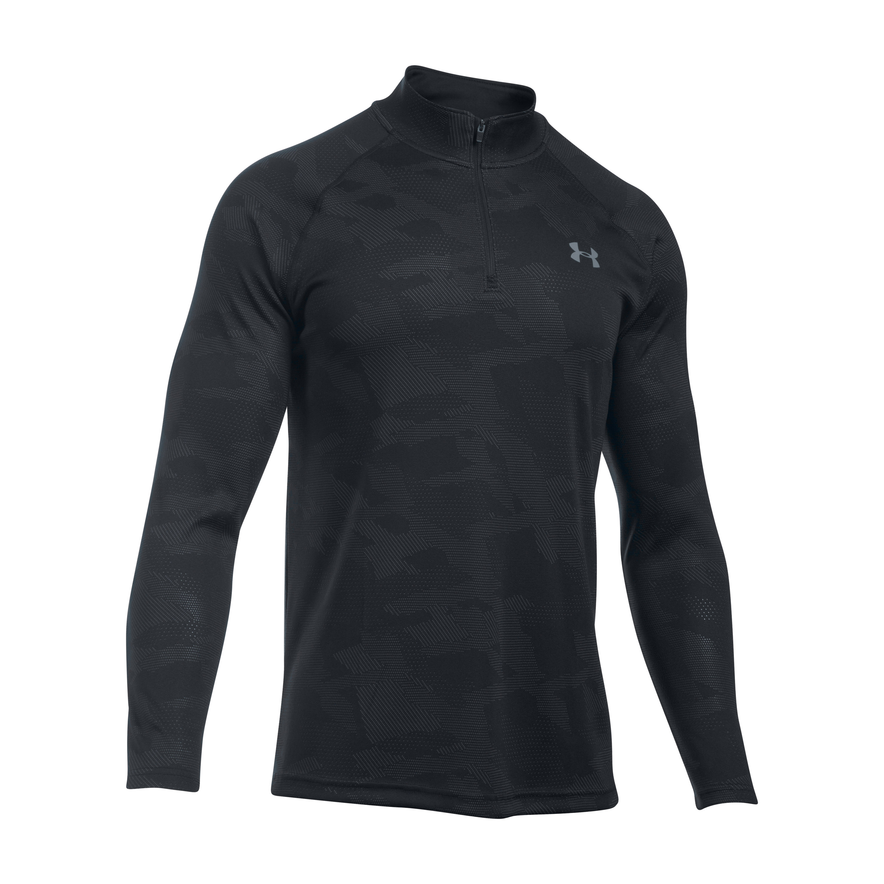 Under Armour Langarmshirt Tech Jacquard 1/4 Zip schwarz