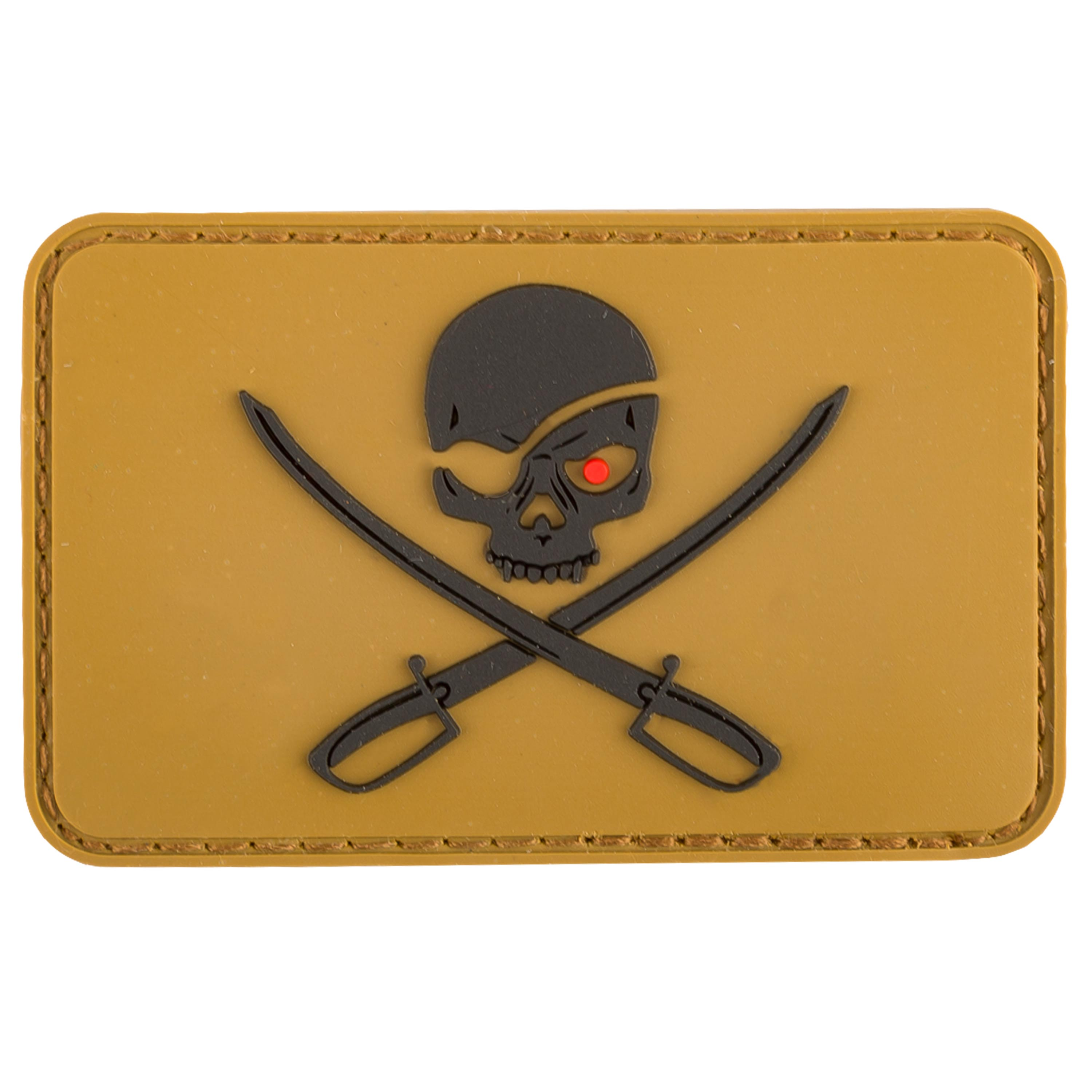 MFH 3D Patch Skull with Swords coyote