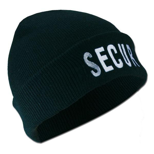 Rollmütze SECURITY schwarz