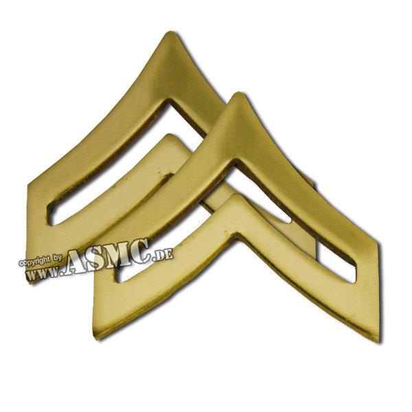 Rangabzeichen Metall US Corporal polished