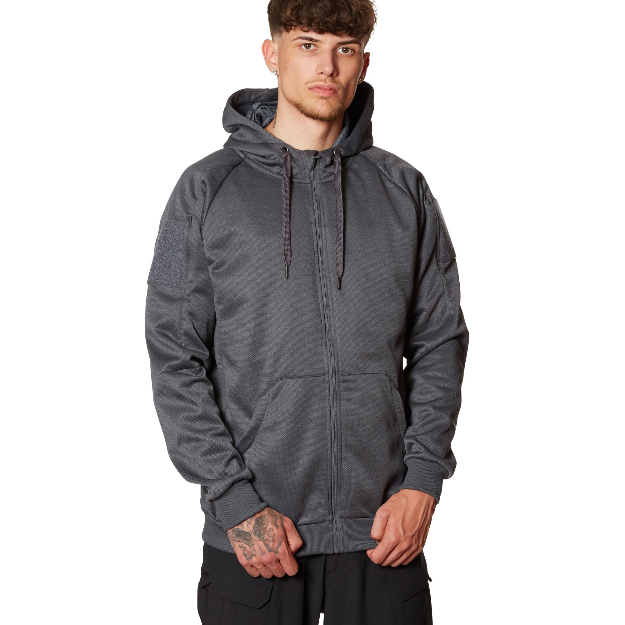 Helikon-Tex Hoodie Urban Tactical Full Zip melange black grey