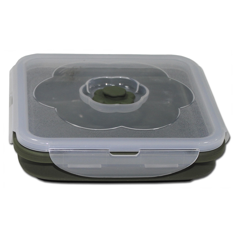 Essensbehälter MFH faltbar 1 L quadratisch oliv