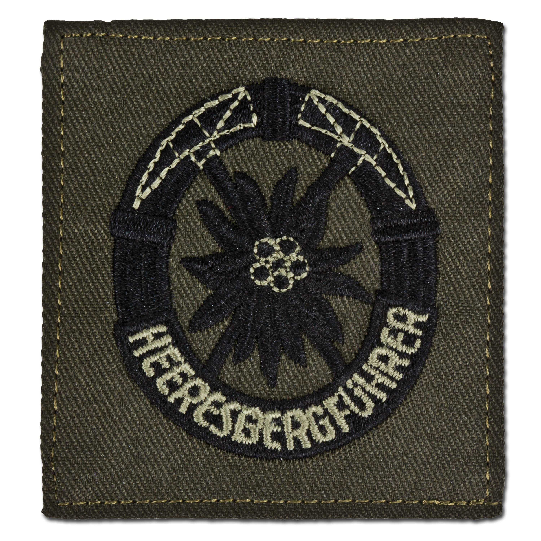 Abzeichen Bw Heeresbergführer oliv/schwarz