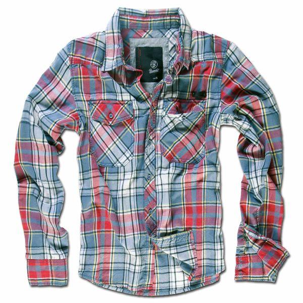 Brandit Checkshirt grau