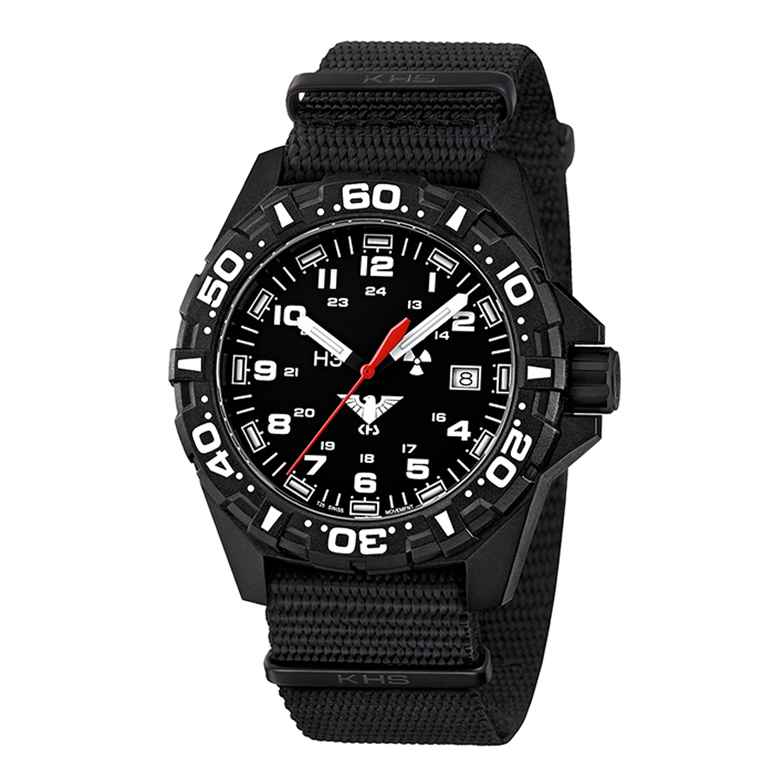 KHS Uhr Reaper Nato schwarz