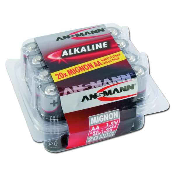 Batterie Ansmann Mignon AA Red-Line 20er-Box