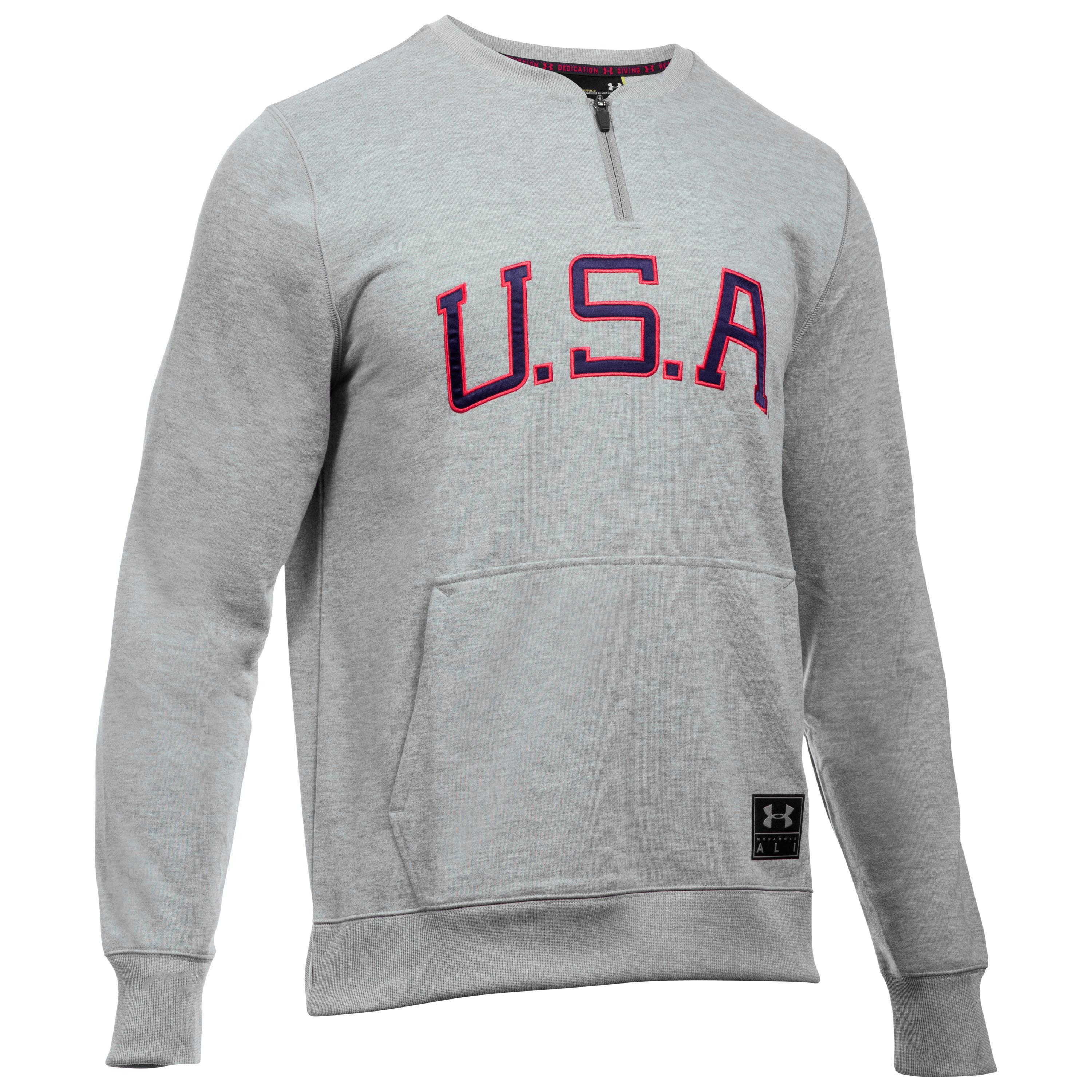 Under Armour Pullover Clay Americana Crew grau-rot