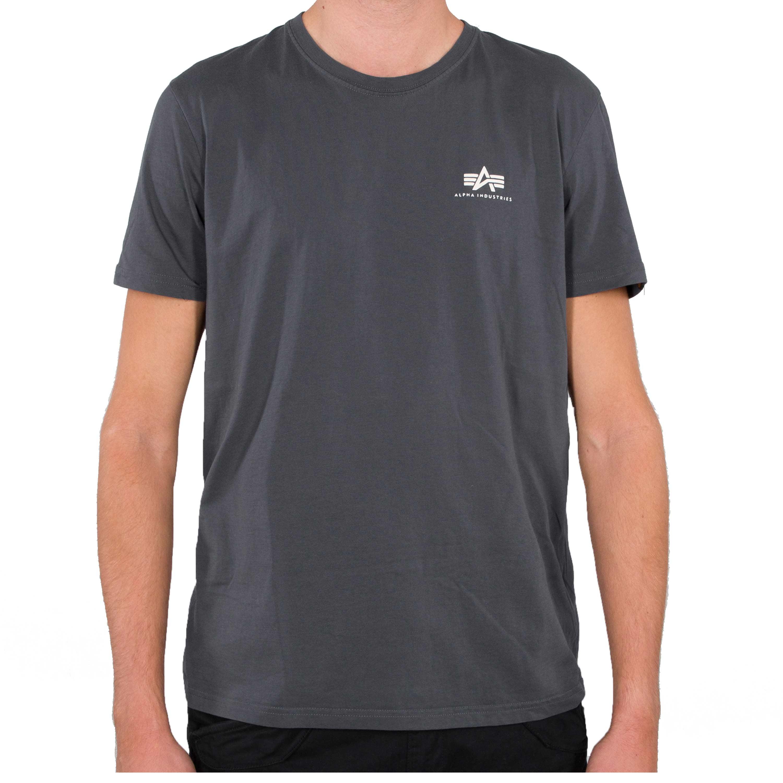 Alpha Industries T-Shirt Basic Small Logo greyblack