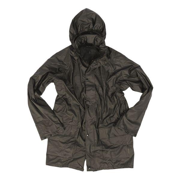Regenjacke Polyester schwarz