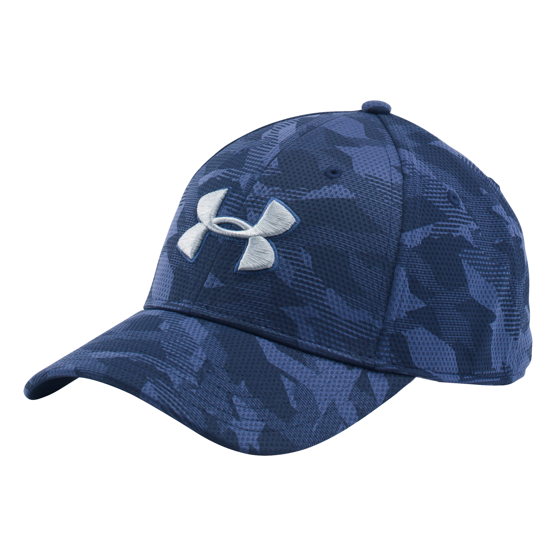 Under Armour Cap T-Camo Blitzing Stretch blau silber