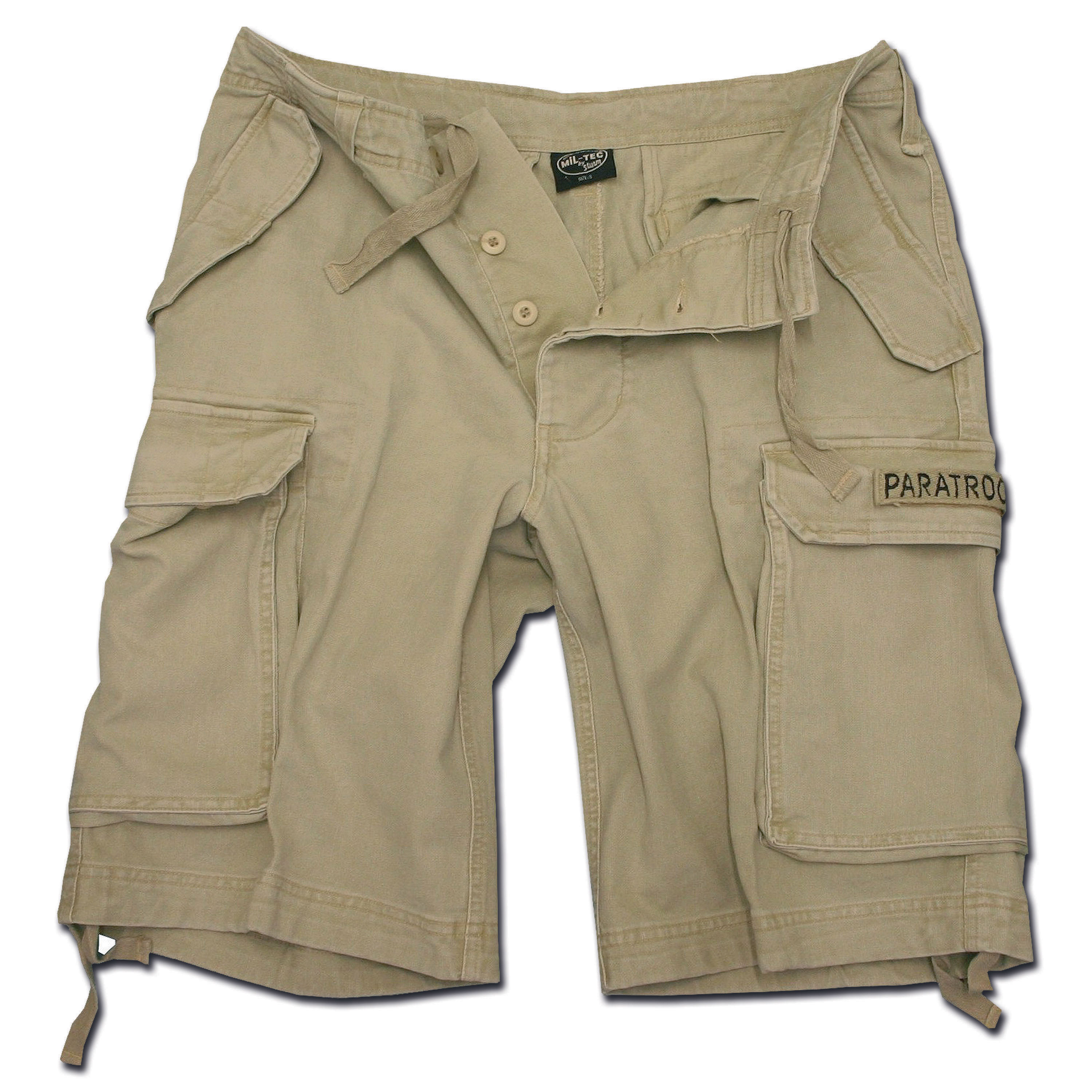 Paratrooper Shorts Mil-Tec washed khaki