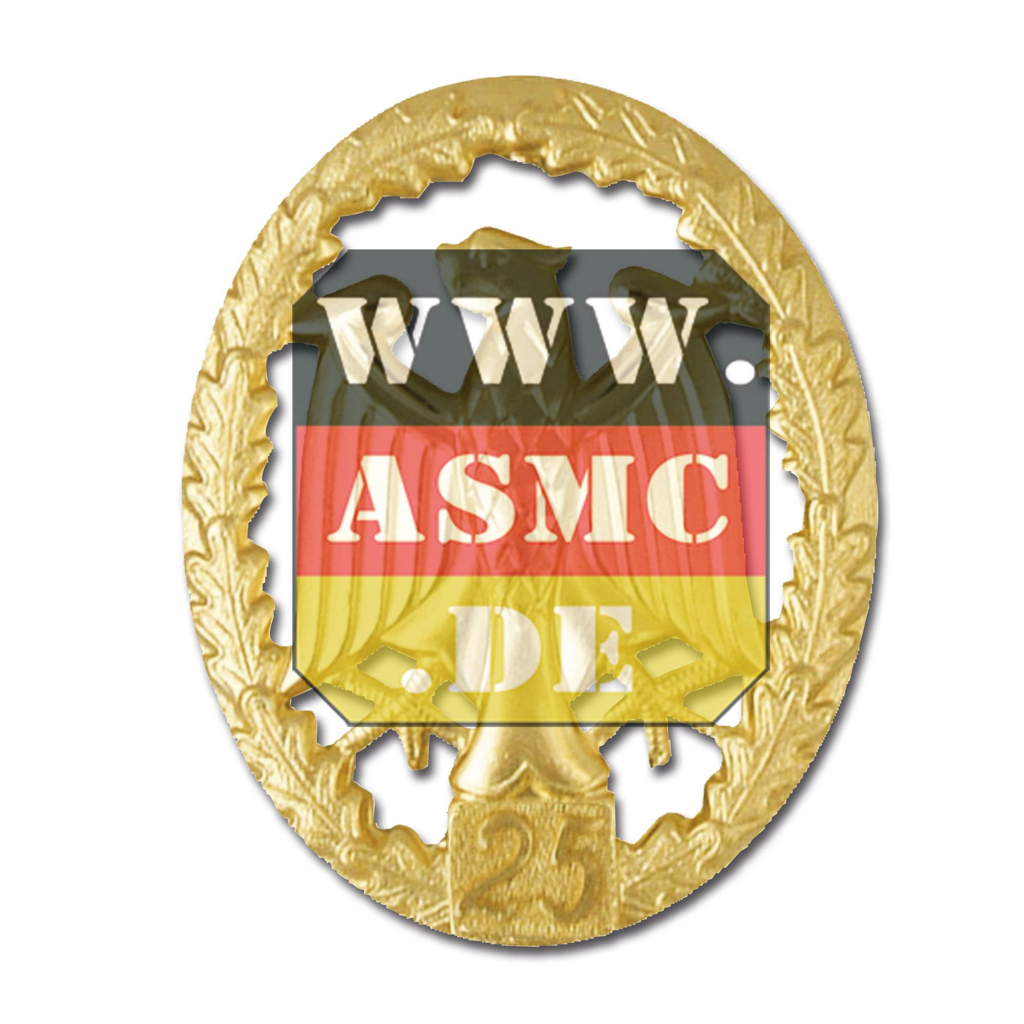 Leistungsabzeichen Metall gold Zahl 25
