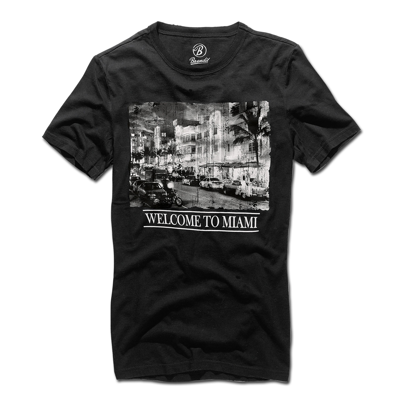 T-Shirt Brandit Miami schwarz