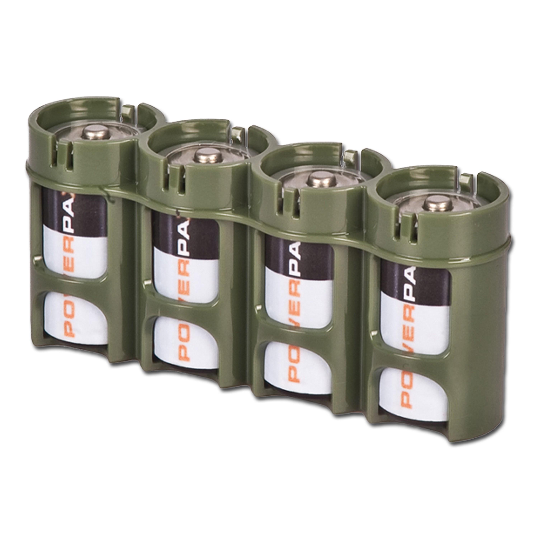 Batteriehalter Powerpax 4 x C4 oliv