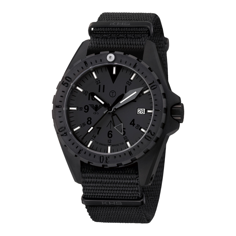 KHS Uhr Missiontimer 3 Titan GMT XTAC Natoband schwarz