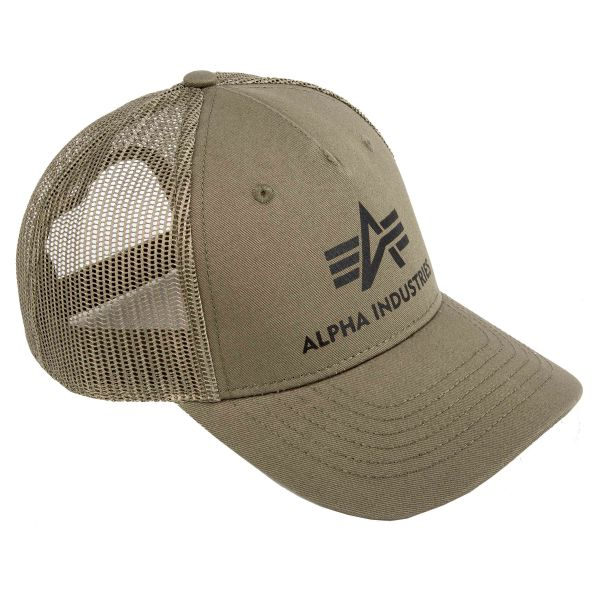 Alpha Industries Baseballcap Basic Trucker dunkelgrün