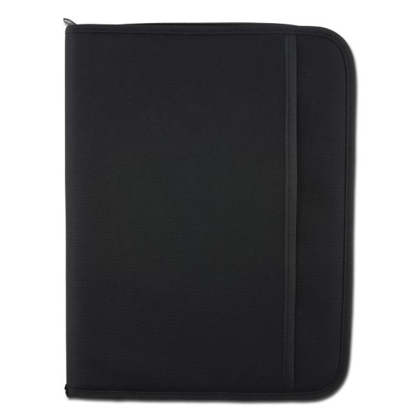 Schreibmappe MFH Deluxe DIN A4 schwarz schwarz
