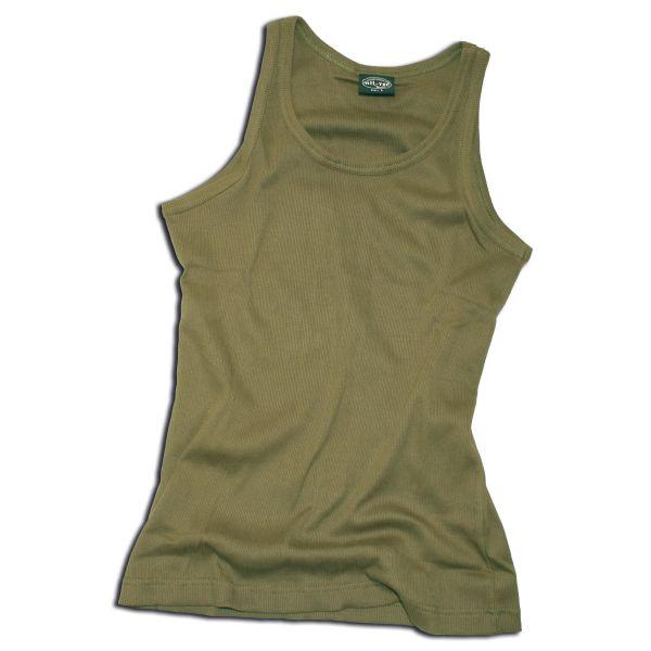 Tank-Top oliv feinripp