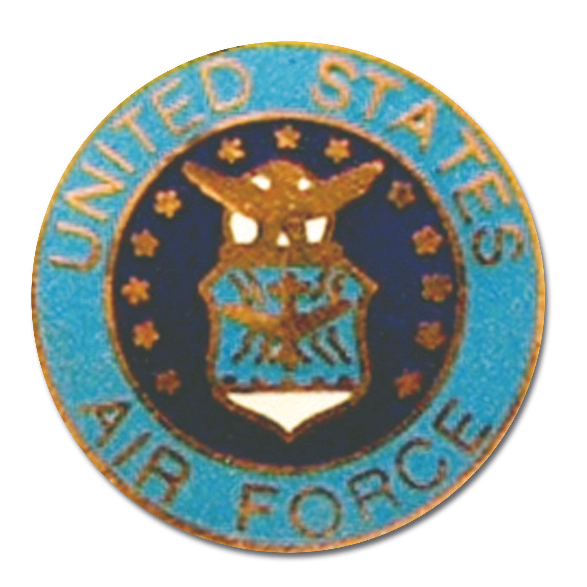 Pin Mini US Air Force rund