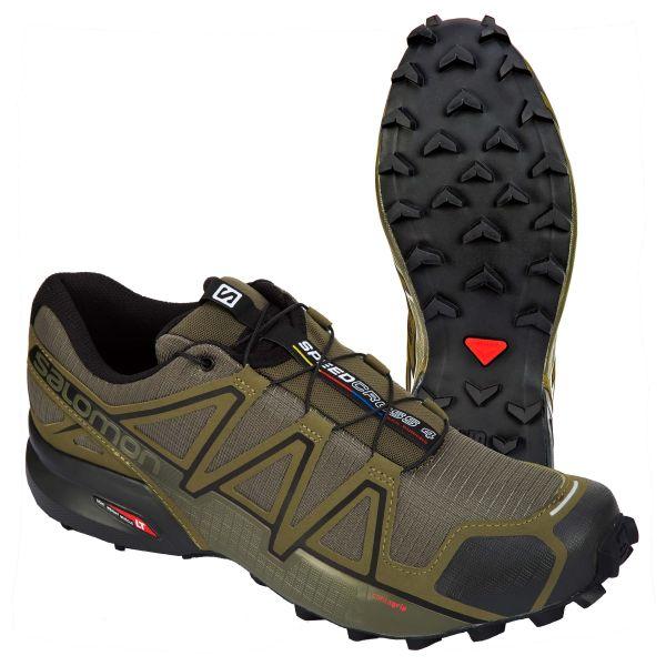 Salomon Schuhe Speedcross 4 Wide oliv schwarz