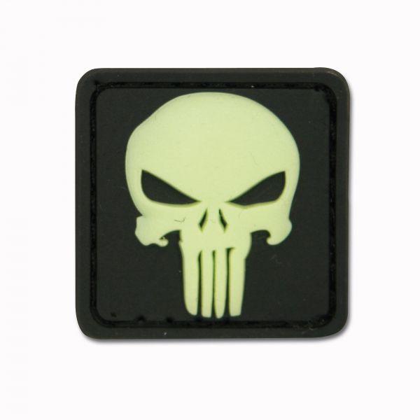 3D-Patch Punisher Skull nachleuchtend